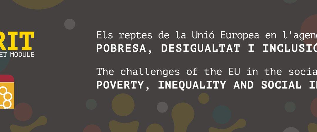 La proposta de mòdul Jean Monnet del SBRlab i la Càtedra d'Inclusió Social és finançada per la UE